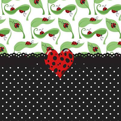 Ladybug Digital Art - Ladybug Special by Debra  Miller