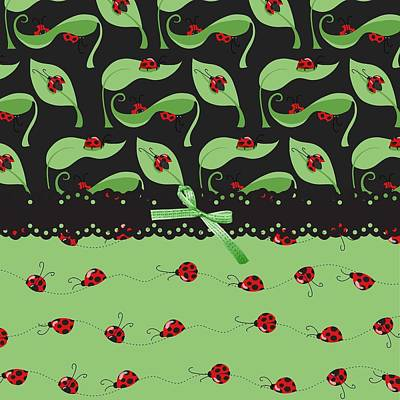 Ladybug Digital Art - Ladybug Splash by Debra  Miller