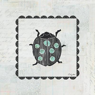 Ladybug Painting - Ladybug Stamp by Courtney Prahl