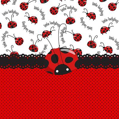 Ladybug Digital Art - Ladybug Sweet Surprises  by Debra  Miller