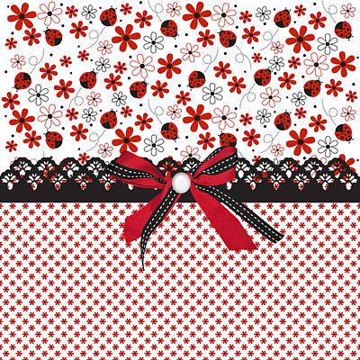 Ladybug Digital Art - Ladybug Whisper  by Debra  Miller