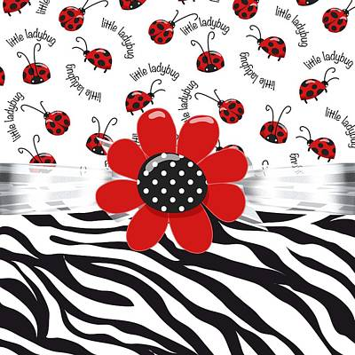Digital Art - Ladybug Wild Thing by Debra  Miller