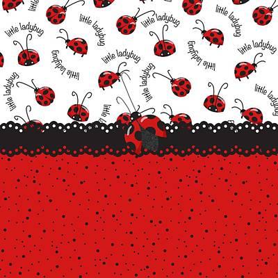 Ladybug Digital Art - Ladybugs Occasion by Debra  Miller