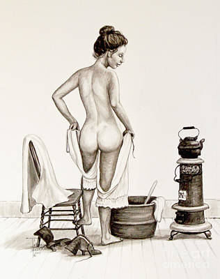 Lady's Bath 1890's Art Print