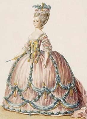 Royal Court Photograph - Ladys Gown For The Royal Court by Claude Louis Desrais