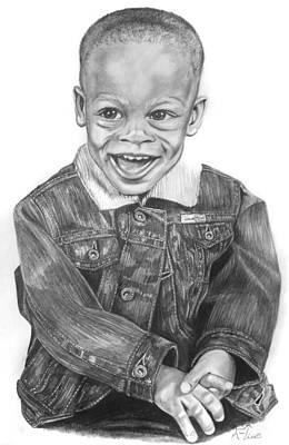 Denim Drawing - Lady's Man by Lisa Nadler