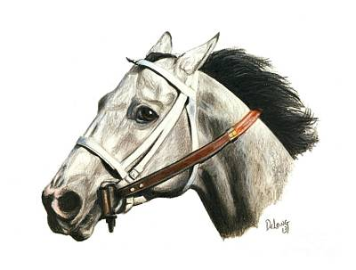Horse Racing Painting - Lady's Secret by Pat DeLong