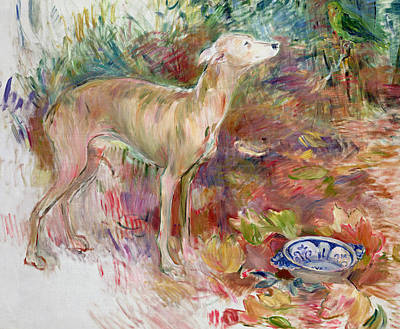 Animal Portraiture Painting - Laerte The Greyhound by Berthe Morisot