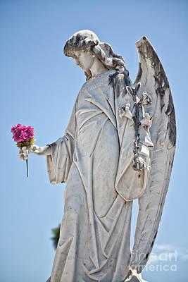 Photograph - Lafayette Angel Statue By Jo Ann Tomaselli by Jo Ann Tomaselli