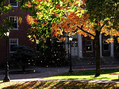 Photograph - Lafayette College Easton Pa In Autumn by Jacqueline M Lewis