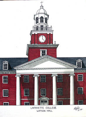 Drawing - Lafayette College by Frederic Kohli