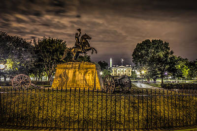 Patriotic Bronze Photograph - Lafayette Park by David Morefield