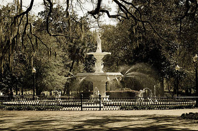 Lafayette Square In Savannah Art Print by Maria Suhr