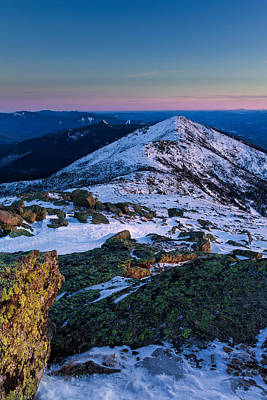 Photograph - Lafayette To Lincoln Winter On Franconia Ridge. by Jeff Sinon