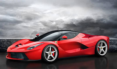 Production Digital Art - Laferrari Dreamscape by Peter Chilelli