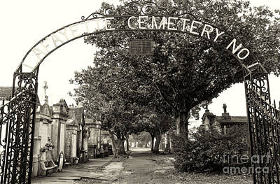 Departed Photograph - Lafeyette Cemetery No. 1 Sepia by John Rizzuto