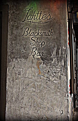 Lafitte's Blacksmith Shop Bar Art Print by Beth Vincent
