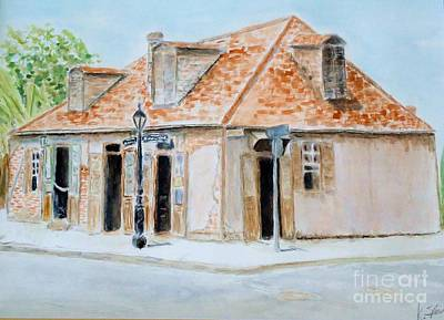 Painting - Lafitte's Blacksmith Shop by Katie Spicuzza
