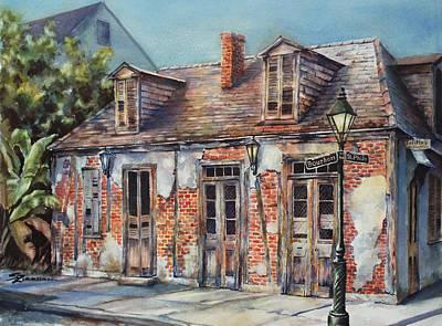 Lafitte's Blacksmith Shop Art Print by Sue Zimmermann
