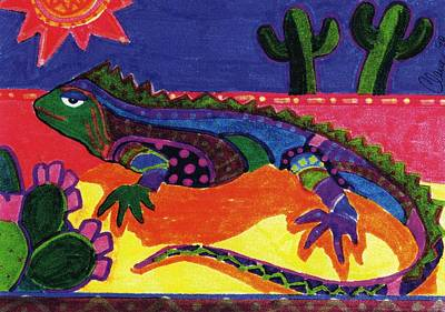 Lagarto Art Print by Claire Bistline
