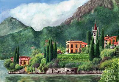 Lake Como Painting - Lago Di Como by Bretislav Stejskal