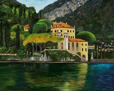 Lake Como Painting - Lago Di Como by Claudia Herrick