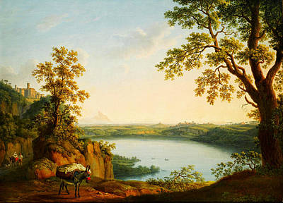 Beautiful Scenery Painting - Lago Di Nemi by Celestial Images