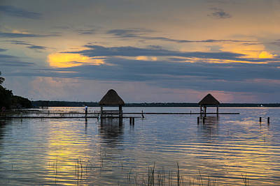 Lagoon At Sunset Original by Yuri Santin