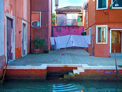 Burano Photograph - Lagoon Courtyard by Francois Girard