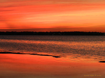 Photograph - Lagoon Sunset by Grace Dillon