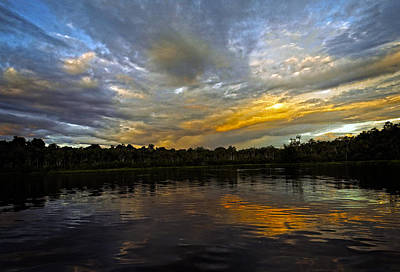 Photograph - Lagoon Sunset In The Jungle by Kurt Van Wagner