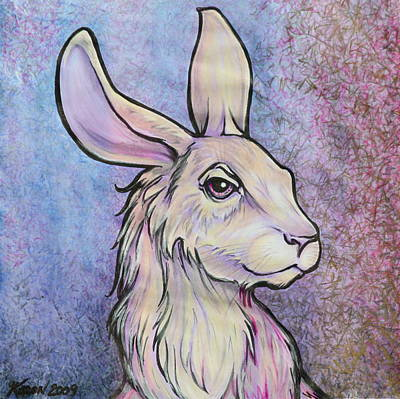 Whimsical Drawings Mixed Media - Lagos The Noble Hare by Karon Melillo DeVega