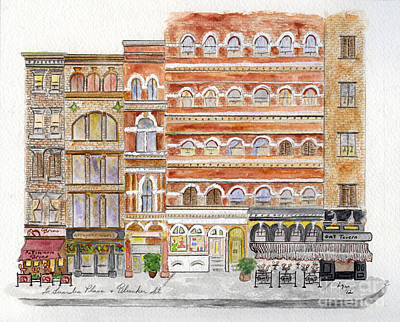 Painting - Laguardia Place In Greenwich Village by AFineLyne