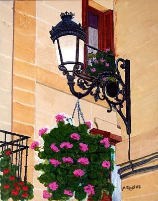 Laguardia Street Lamp  Art Print by Mike Robles