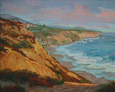 Laguna Beach Painting - Laguna Beach At Sunset by Kevin  McCain