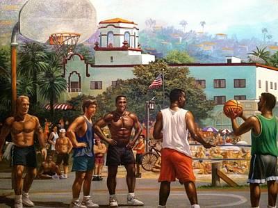 Laguna Beach Painting - Laguna Beach Basketball Courts by Garrett McCarthy