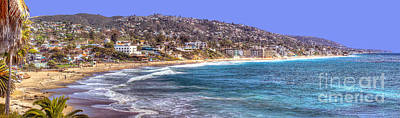 Laguna Beach Coast Panoramic Art Print by Jim Carrell