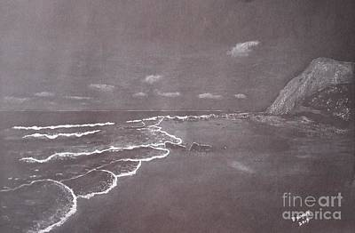 Beach Landscape Drawing - Laguna Beach by David Swope