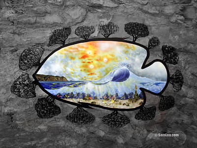 Tree Painting - Laguna Beach Dream 4 by Sam Lea