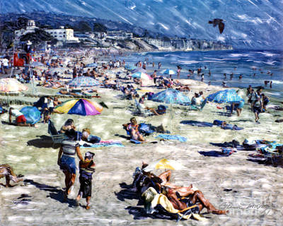 Mixed Media - Laguna Beach by Glenn McNary