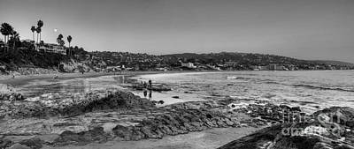 Photograph - Laguna Beach Panorama Black And White by Eddie Yerkish