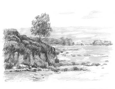 Beach Landscape Drawing - Laguna Beach by Sarah Parks