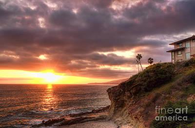 Laguna Beach Sunset Art Print by Eddie Yerkish