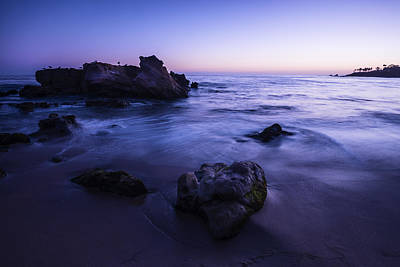 Laguna Beach Sunset In Ca Art Print by Vishwanath Bhat