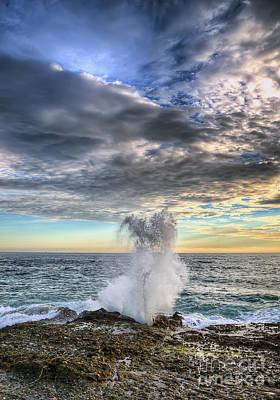 Photograph - Laguna Beach Wave Crash by Eddie Yerkish