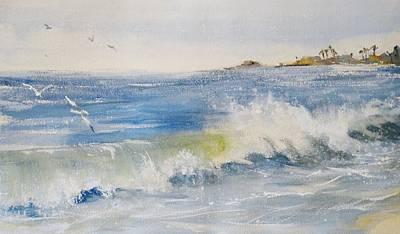 Painting - Laguna Beach Wave by Sandra Strohschein
