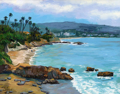 Sandy Beaches Painting - Laguna Beach Winter by Alice Leggett