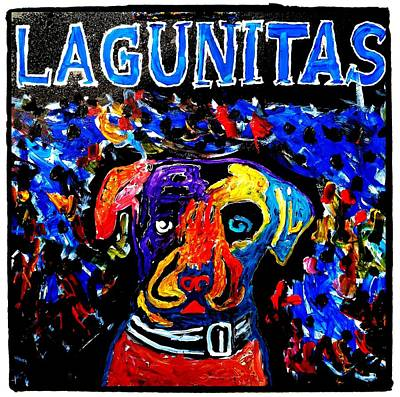 Lagunitas Dog Art Print
