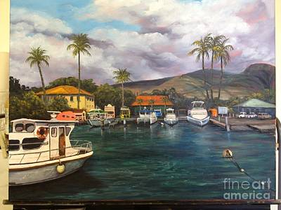 Painting - Lahaina Harbor Wip 10 by Darice Machel McGuire