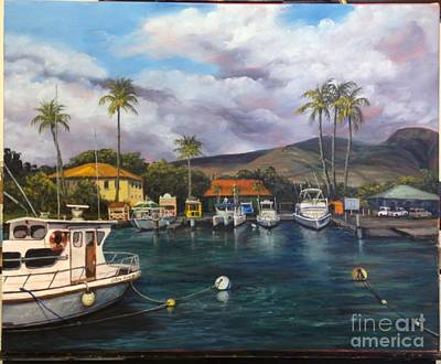 Painting - Lahaina Harbor Wip 11 by Darice Machel McGuire